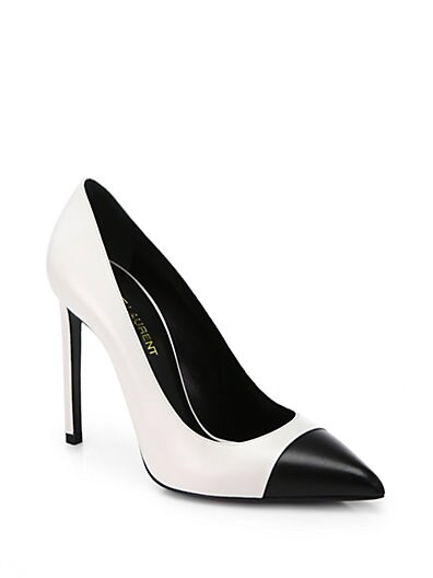 Paris Leather Cap-Toe Pumps
