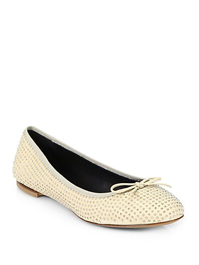 Dance Studded Leather Ballet Flats
