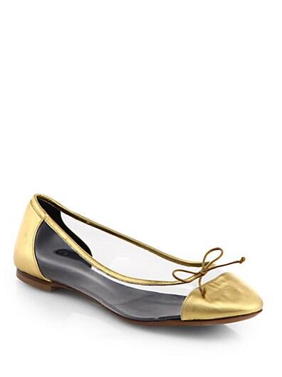 Dance Metallic Leather Ballet Flats
