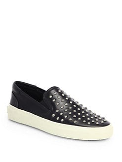 Saint Laurent - Studded Leather Skate Shoes