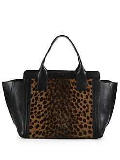 Chloe - Alison Leopard Calf Hair East-West Small Tote