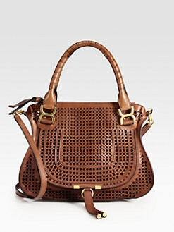 Chloe - Marcie Medium Perforated Leather Shoulder Bag