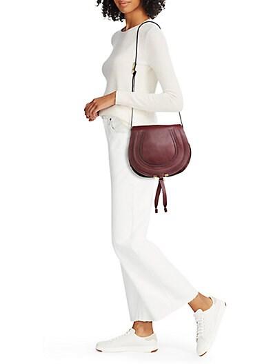 chloe bag price - chloe calfskin small marcie round crossbody dark velvet