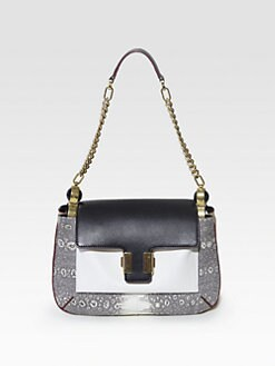 Chloe - Amelia Bijoux Mixed-Media Small Shoulder Bag