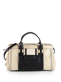 Chloe - New Alice Small Mixed-Media Top Handle Bag