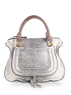 Chloe - Marcie Lizard Embossed Leather Shoulder Bag