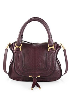 Chloe - Marcie Medium Python Satchel