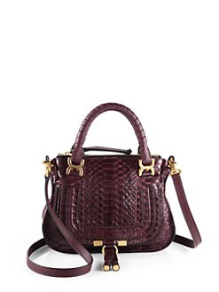 Chloe - Marcie Mini Python Satchel