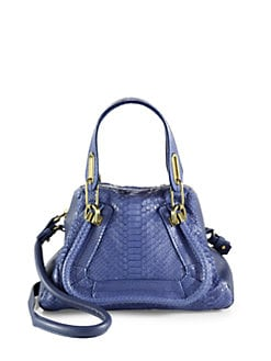 Chloe - Paraty Small Python Shoulder Bag