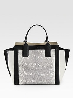 Chloe - Alison Mini Mixed-Media East West Tote