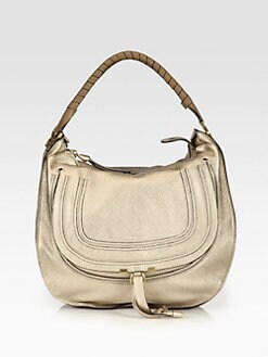 Chloe - Marcie Metallic Large Hobo Bag