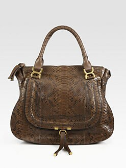 Chloe - Marcie Large Python Shoulder Bag