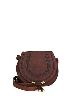 Chloe - Marcie Small Lizard-Embossed Leather Satchel
