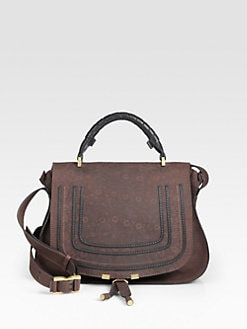 Chloe - Marcie Lizard-Embossed Leather Satchel