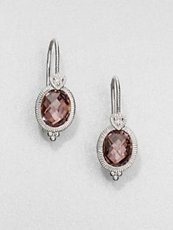Judith Ripka - Crystal & Sterling Silver Drop Earrings