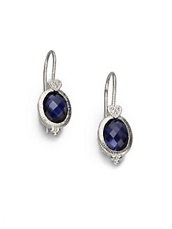 Judith Ripka - Corundum & Sterling Silver Oval Earrings