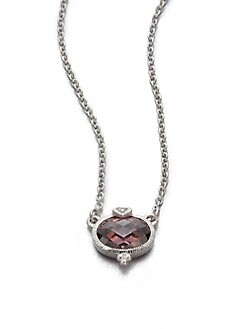 Judith Ripka - Crystal & Sterling Silver Pendant Necklace