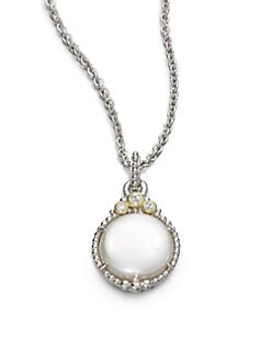 Judith Ripka - Cultured Coin Pearl & Sterling Silver Pendant Necklace