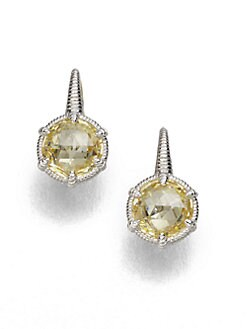 Judith Ripka - Crystal & Sterling Silver Eclipse Earrings