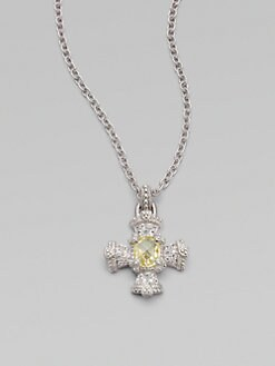 Judith Ripka - White Sapphire and Canary Crystal Sterling Silver Necklace