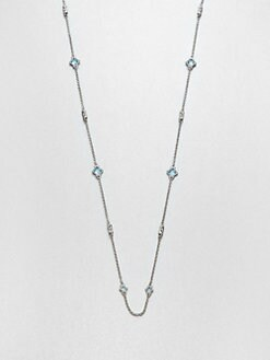 Judith Ripka - Blue Topaz & Sterling Silver Station Necklace