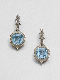 Judith Ripka - Blue Topaz & Sterling Silver Drop Earrings