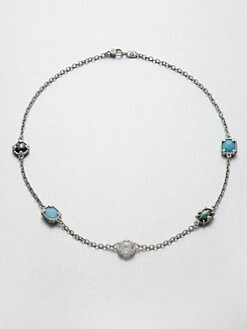 Judith Ripka - Semi-Precious Multi-Stone Station Necklace