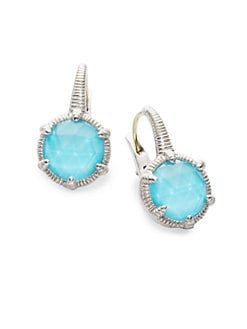 Judith Ripka - Turquoise & Sterling Silver Earrings