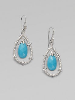 Judith Ripka - Turquoise and White Sapphire Earrings