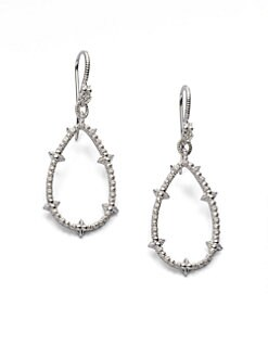 Judith Ripka - White Sapphire-Accented Drop Earrings