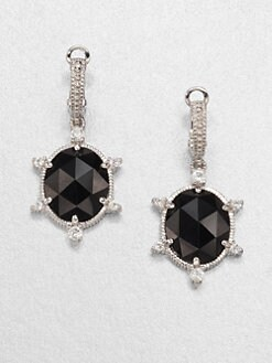 Judith Ripka - Black Onyx & Sterling Silver Drop Earrings