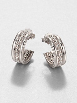 Judith Ripka - Bead-Textured Sterling Silver Huggie Earrings