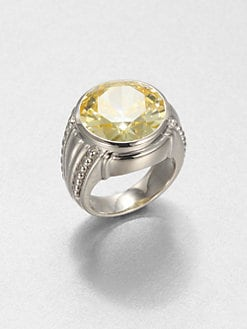 Judith Ripka - Canary Crystal & Sterling Silver Cocktail Ring