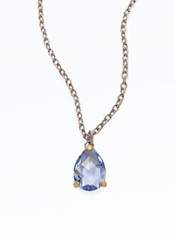 Judith Ripka - Blue Quartz & Sterling Silver Pear Drop Necklace