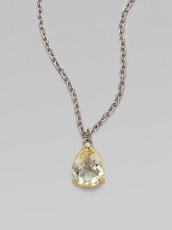 Judith Ripka - Canary Crystal & Sterling Silver Pear Drop Necklace