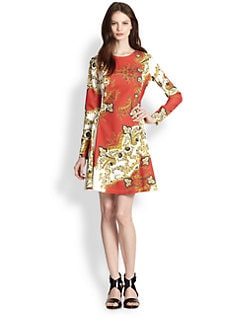 Just Cavalli - Paisley Crown-Print Dress