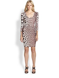 Just Cavalli - Jersey Leopard-Print Dress