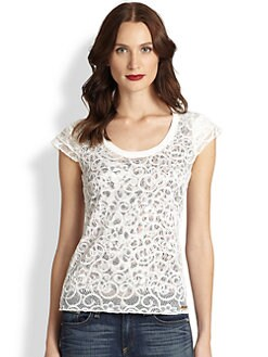 Just Cavalli - Embroidered Lace Top
