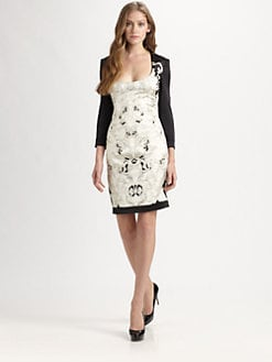 Just Cavalli - Temple-Print Satin Dress