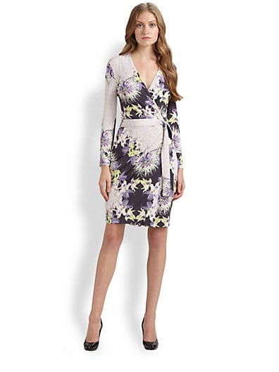 Venus-Print Wrap Dress