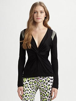 Just Cavalli - Jersey Twist-Front Top