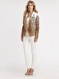 Just Cavalli - Leopard-Print Cady Jacket