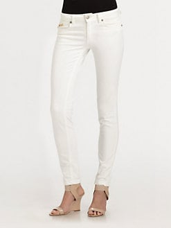 Just Cavalli - Embroidered/Embellished-Pocket Jeans