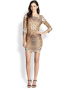 Just Cavalli - Leopard-Print Body-Con Dress