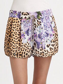 Just Cavalli - Printed Drawstring Shorts