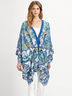 Just Cavalli - Cotton/Silk Poseidon-Print Tunic