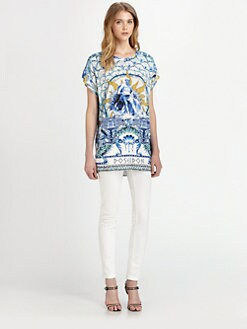 Just Cavalli - Poseidon-Print Top