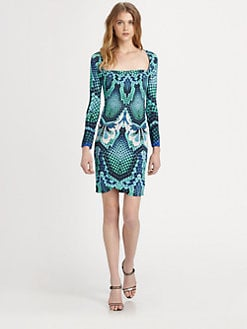 Just Cavalli - Atlantis-Print Dress
