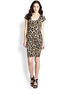 Just Cavalli - Leopard Print Jersey Dress