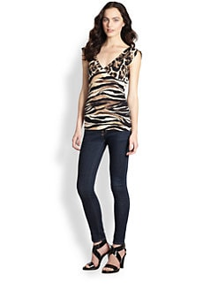 Just Cavalli - Animal Print Jersey Top
